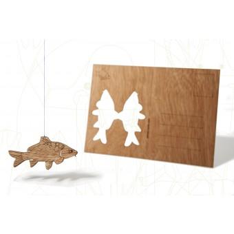 formes Berlin Karpfen-Karte - 6 Postkarten aus Holz