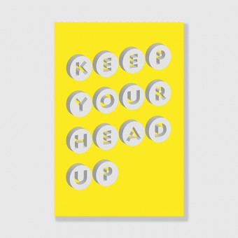 "ZEITLOOPS ""Keep your head up"", Posterprint 40x60 cm"