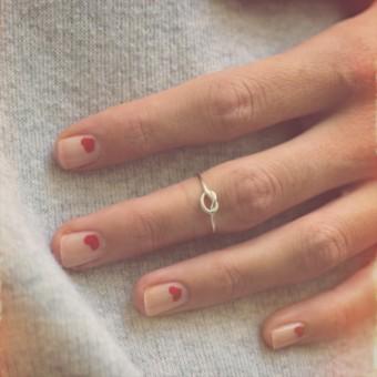 iloveblossom KNOTS OF LOVE RING // fine silver