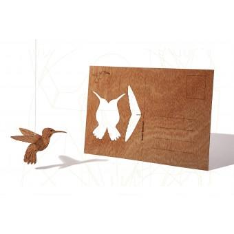formes Berlin Kolibri-Karte - 6 Postkarten aus Holz