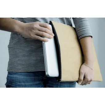Kraft Papier Laptop Sleeve - Case, Laptop Hülle, gepolsterte MacBook Hülle 13 Zoll BY COPALA