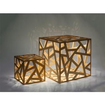 kubus midi – LED-Holzleuchte – Leuchtmanufaktur