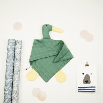 hasenkinder - Kuscheltuch aqua 50x33cm - für Babys  - Einzelstück