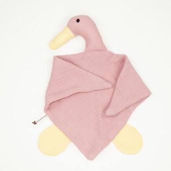 hasenkinder - Kuscheltuch rose 50x33cm - für Babys - Einzelstück