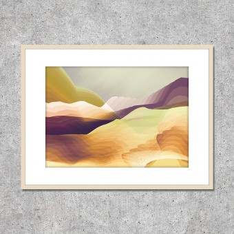 "Look at me! Fine Art Print ""Seven Hills"" (DIN A2)"