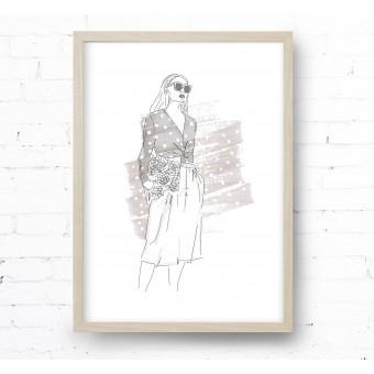 Kruth Design POSTER / LAURA BEIGE