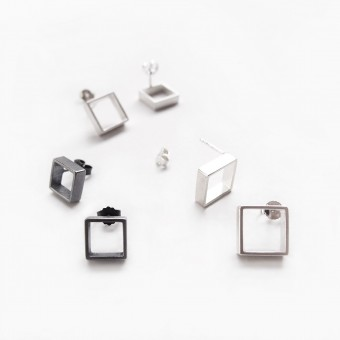 B KREB jewelry - LINE square Single - S