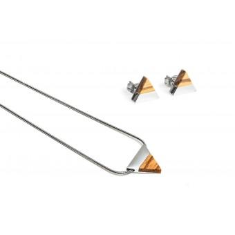 BeWooden Halskette & Ohrringe Set - Lini Set