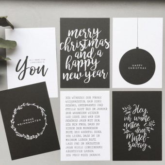 "Love is the new black – Postkarten-Set ""Christmas"""