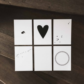 "Love is the new black – Postkarten-Set ""Graphics"""