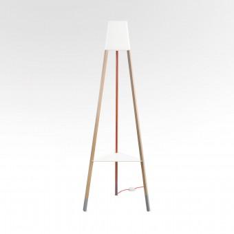 soform manufaktur Stehleuchte La3b 170 cm weiss + Tisch
