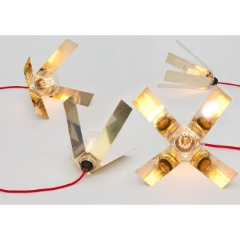 LJ LAMPS Lambda – Leuchte aus Messing