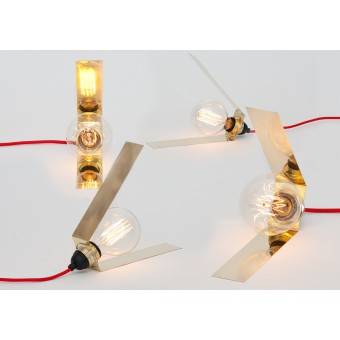 LJ LAMPS Lambda simple – Leuchte aus Messing