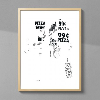 Julia Schubert - Letters of NY–Pizza (DIN A2 Druck)
