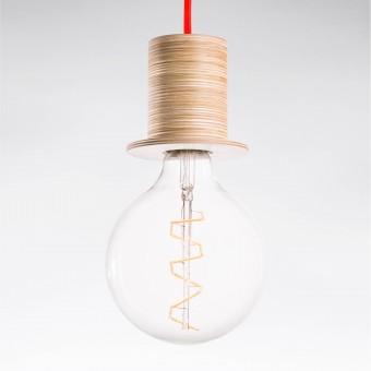 """Lichtliebe Pendelleuchte """"Fafoo"""" in weiß und neonorange inkl. Edison Spiral LED im Retro Design mit nur 1,8 Watt"""