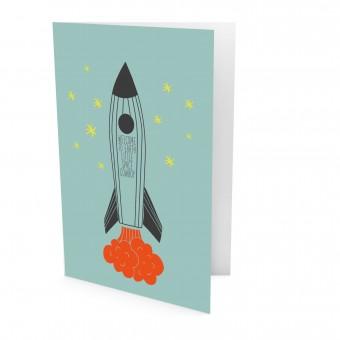 melike Postkarte Welcome on earth little space cowboy