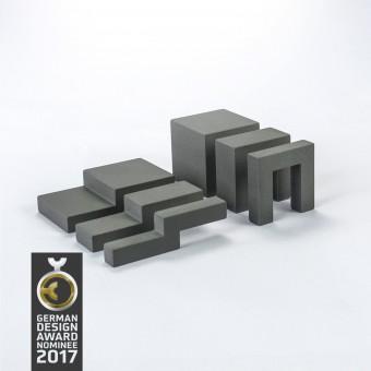 Ludofactum Design-Bauklötze ludobricks (betongrau)