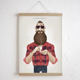 KLEINWAREN / VON LAUFENBERG Set / Lumbersexual + Magnetische Posterleiste Eiche A3
