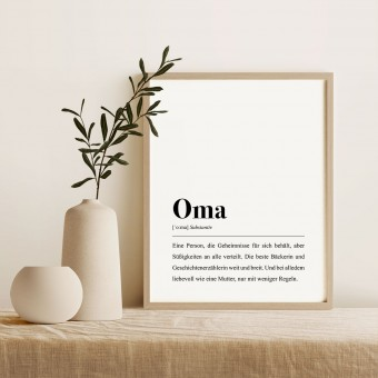 Oma Definition: DIN A4 Poster - Pulse of Art