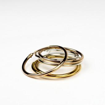 ST'ATOUR MAGDA – Creolen 12 mm in Silber // Gold // Roségold
