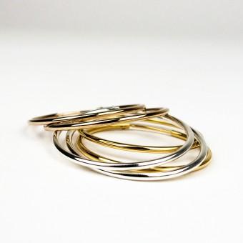 ST'ATOUR MAGDA – Creolen 25 mm in Gold, Silber oder Roségold