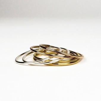 ST'ATOUR MAGDA – Creolen 32 mm in Silber, Gold oder Roségold
