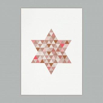 Feingeladen // FLASHY TRIANGLES // Star (CPFR), RISO-Kunstdruck, A5
