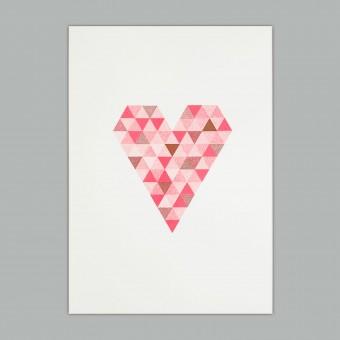 Feingeladen // FLASHY TRIANGLES // Heart (CPFR), RISO-Kunstdruck, A5
