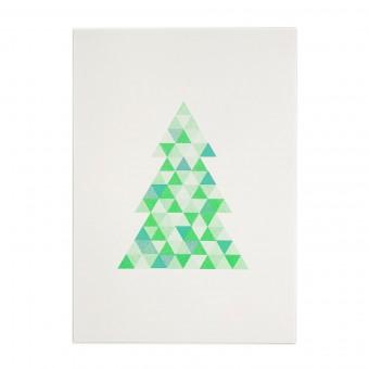 Feingeladen // FLASHY TRIANGLES // Tree (FGMI), RISO-Kunstdruck, A5