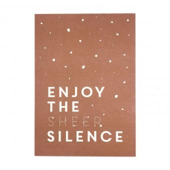 Feingeladen // KARAOKE INSPIRED // Enjoy the sheer Silence (CP), RISO-Kunstdruck, A5