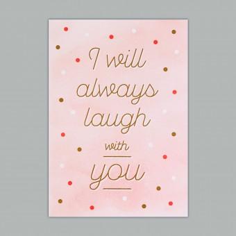 Feingeladen // KARAOKE INSPIRED // I will always laugh with you (FRCP), RISO-Kunstdruck, A5