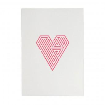 Feingeladen // LINE ART // Heart (FR), RISO-Kunstdruck, A5