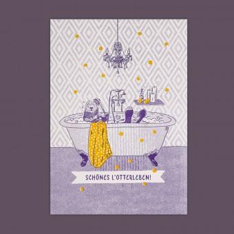 Feingeladen // LOVELY BEASTS // Otter »Schönes L'Otterleben« (PPSF) // RISO-Kunstdruck, A5