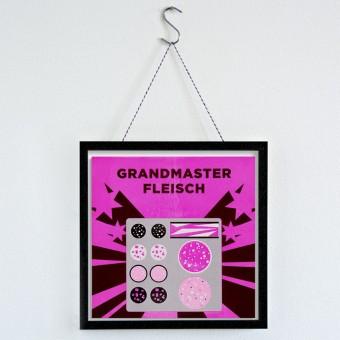 """MEAT LOVE """"Grandmaster Fleisch""""  Fleisch und Musik Riso Drucke von Black Matter"""