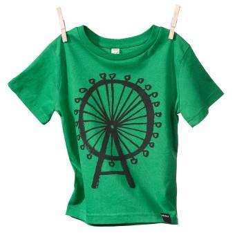 MIALI  Bio-Baumwoll Shirt für Kleine / Riesenrad (grün)