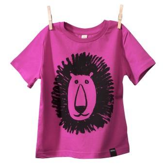 MIALI Bio-Baumwoll Shirt für Kleine / Löwe (pink)