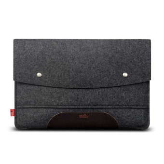 "Pack & Smooch Kingston - MacBook Pro 16"" Sleeve (Touch Bar / Touch ID) 100% Merino Wollfilz, Pflanzlich gegerbtes Leder"