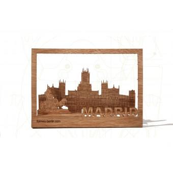 formes Berlin Madrid-Karte - 6 Postkarten aus Holz