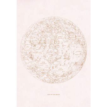 MAP OF THE MOON - A3 Print - Anna Cosma