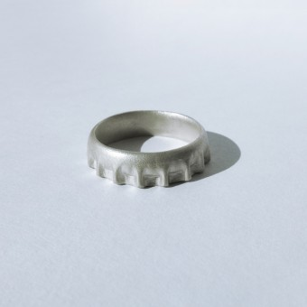Kaja Holland Fingerring KRONE, 925 Silber