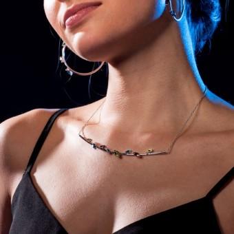 YOURS TO KEEP - Schlüsselbein-Schmeichler - Silberkette mit echten Edelsteinen