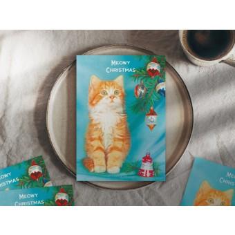 typealive / Retro-Weihnachtskarten 4er Set / Meowy Christmas