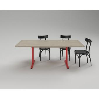 Merlin - Tisch mit Platte aus Esche, 90 x 180 cm