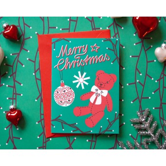 Weihnachtskarte »Merry Christmas« // Papaya paper products