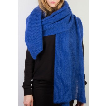 mmies Mohair Schal royal blau