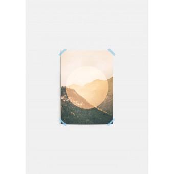 JOE MANIA / Modern Artprint Poster / Landscapes Circular  2 Alps