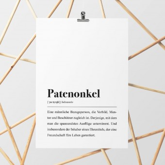 Patenonkel Definition: DIN A4 Poster - Pulse of Art
