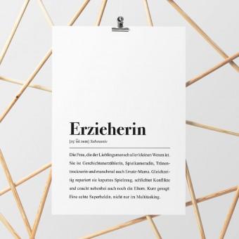 Erzieherin Definition: DIN A4 Poster - Pulse of Art