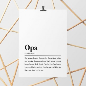 Opa Definition: DIN A4 Poster - Pulse of Art