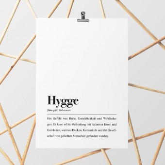 DIN A4 Poster: Hygge Definition - Pulse of Art